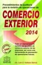 PROCEDIMIENTOS DE AUDITORIA PARA LA REVISIÓN DE OPERACIONES DE COMERCIO EXTERIOR 2014